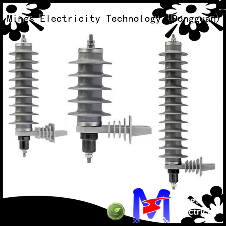 Mings polymer lightning arrester factory price for government sevice