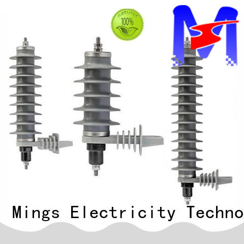 Mings durable zinc oxide surge arrester from China for communal facilities