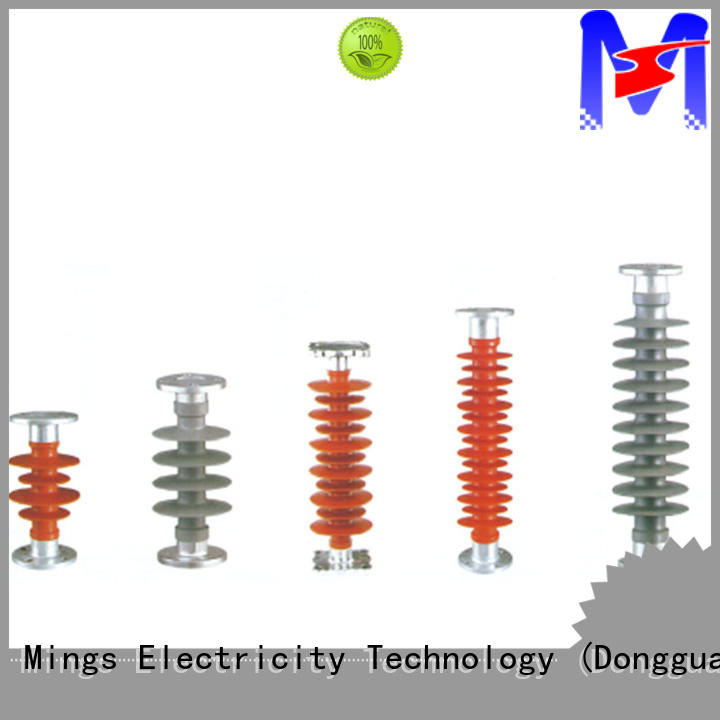 Mings technical composite polymer insulator railway for wire pole