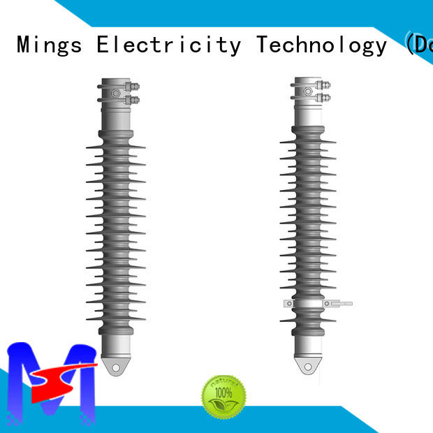 Mings high voltage silicone composite insulators supplier for telegraph pole