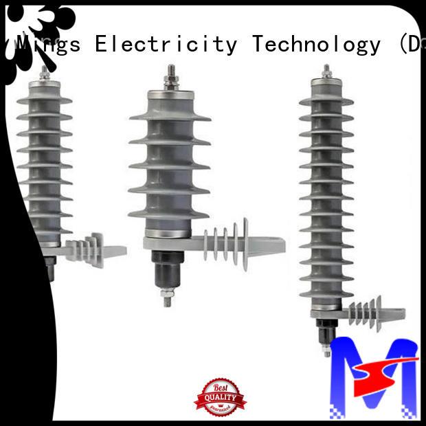 durable lightning surge arrester 366kv online for electricity distribution