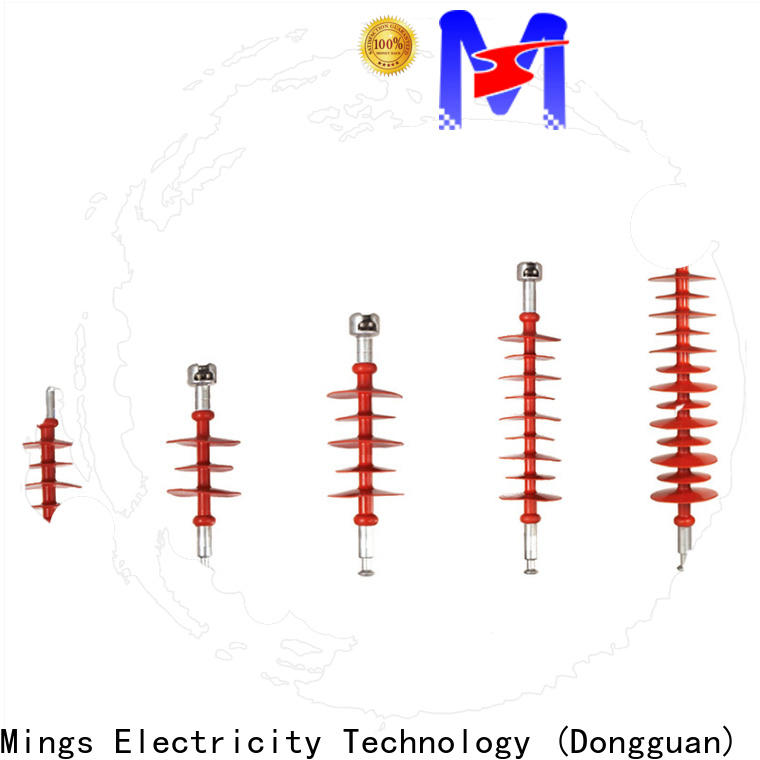 Mings professional composite line post insulator supplier for wire pole